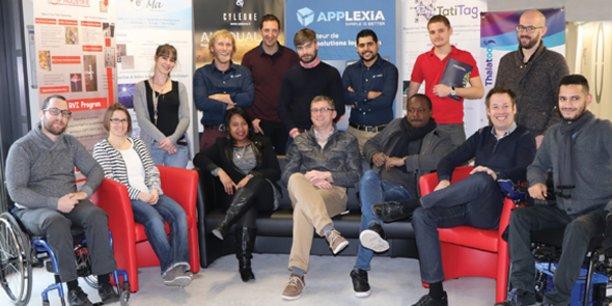 Une partie des startuppers installés au sein de l'IES de Montpellier.