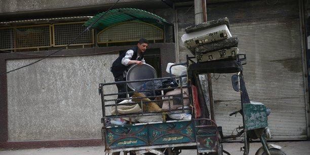 Des civils evacues de la ghouta orientale[reuters.com]