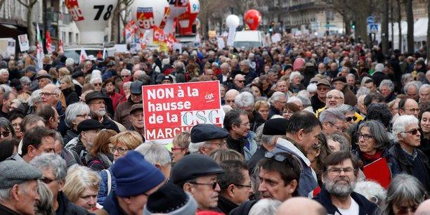 c6f5e8b8bf0885 Des milliers de retraités manifestent partout mais Macron