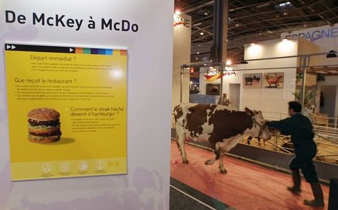 McDonald's au salon de l'agriculture 2011. Copyright Reuters