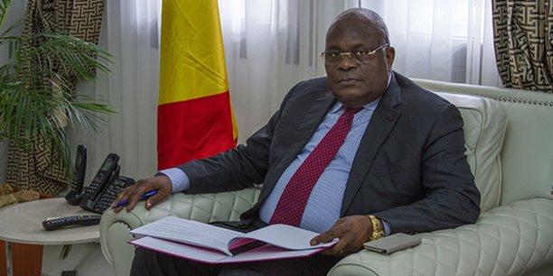 Calixte Ganongo, ministre congolais des Finances.