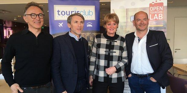 Marc Jonas (expert oenotourisme), Emmanuel Bobin (Open Tourisme Lab), Jeannet Schwager de Jong (Tourisclub Nîmes-Camargue), Étienne Mangue (Winepass).