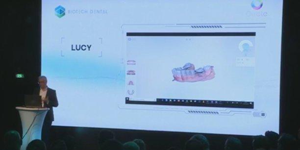 La présentation de la solution Lucy par François Faure, cofondateur d'AnatoScope, le 22 mars 2018 à Paris.