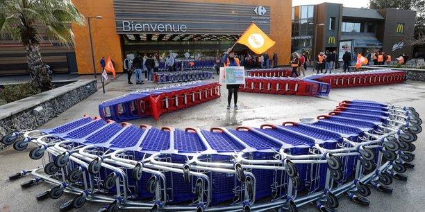 Un magasin Carrefour à Nice.