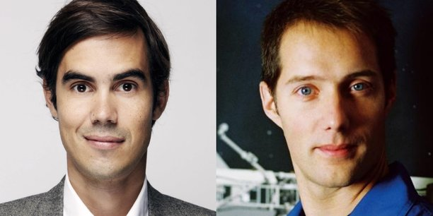 De gauche à droite, Nicolas Hazard, fondateur d'INCO et Thomas Pesquet, spationaute.