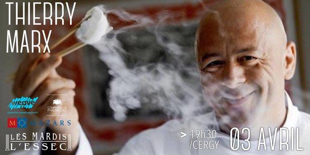 Les mardis de l 39 essec entretien avec thierry marx chef for Cuisinier marx