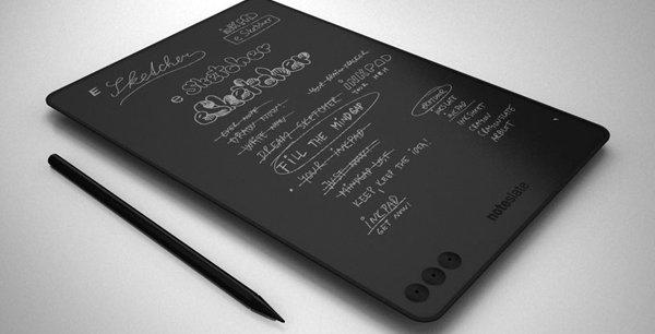 Sur la tablette NoteSlate, il est possible de dessiner. -  DR