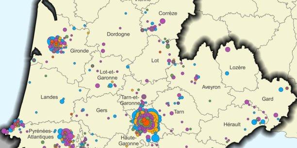Selon l'Insee et Aerospace Valley, la filière l'aérospatiale représentait 146 000 salariés en 2017 en Nouvelle-Aquitaine et en Occitanie. 59 % se concentrent dans la zone d'emploi de Toulouse contre seulement 13 % à Bordeaux.