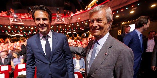 Yannick Bolloré (à gauche) et son père Vincent Bolloré.