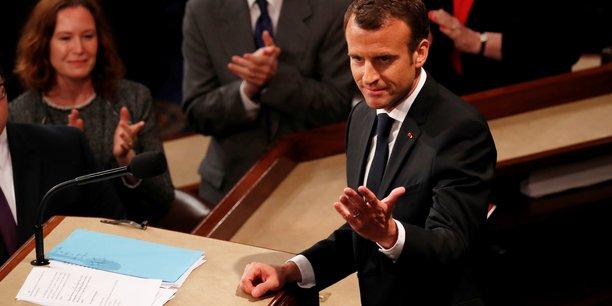 Emmanuel Macron a été ovationné par les sénateurs et représentants du Congrès américain.