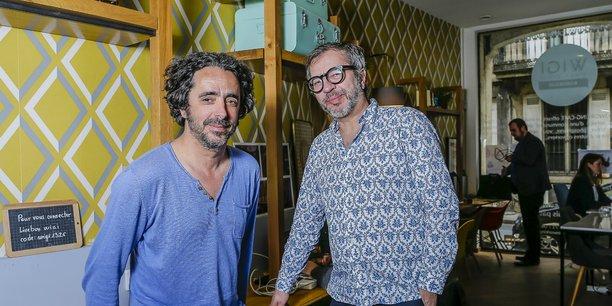 Eric Deup, le président de Comet et gérant de La Couveuse à films, et Eric San Augustin, vice-président de Comet et gérant de Wigi coworking.