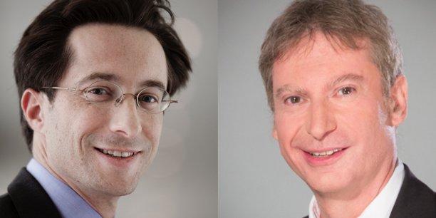 Daniel Haguet (à droite) est professeur de finance à l'EDHEC Business School. Edouard Camblain est responsable des projets stratégiques chez Société générale Private Banking.  Ils sont co-présidents de la commission finance comportementale à la Société Française des Analystes Financiers (SFAF).