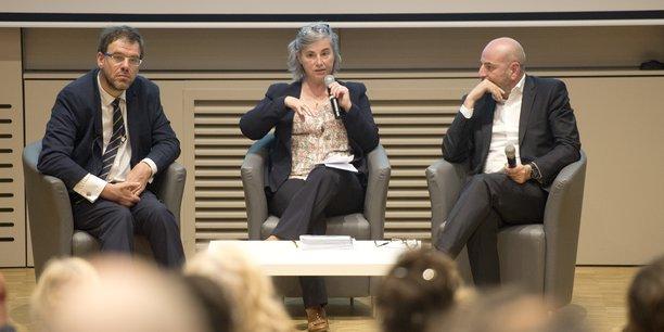 Jean-Baptiste Hibon, Valérie Glatard et Patrick Blayac.
