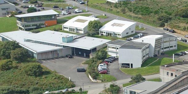 Vue aérienne du Campus mondial de la mer, sur le site du Technopôle Brest-Iroise.