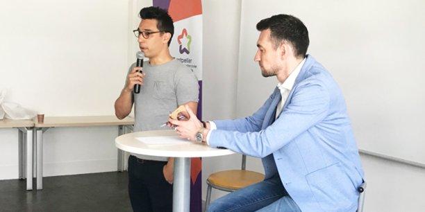 Anh-Tuan Gai, fondateur de la startup Onfocus, témoigne lors du France Digital Tour, le 16 mai à Montpellier