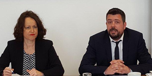 Carine Gaillard, directrice commerciale, et Sébastien Robert, directeur d'agence, de Bouygues Immobilier Languedoc.