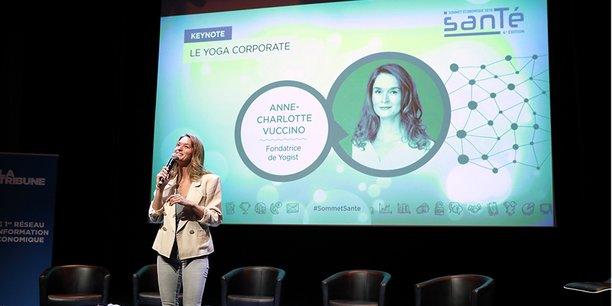 Anne-Charlotte Vuccino, fondatrice de Yogist, a clôturé cette 4e édition