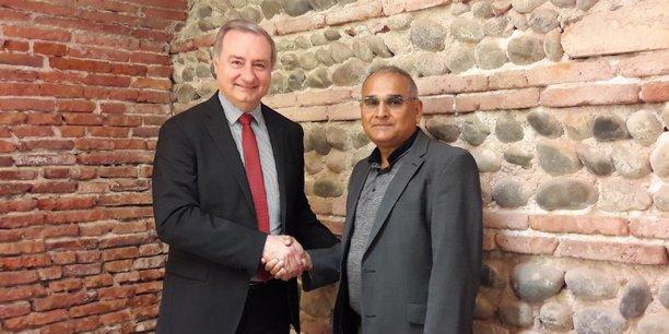 Le maire de Toulouse et président de Toulouse Métropole a rencontré Raj Chhibber, le PDG de BTBP lors de son arrivée dans la Ville rose le 22 mai.