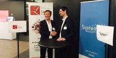 De gauche à droite, Paul Bougnoux de Largillière Finance et Charles Kremer d'IRT SystemX