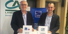 Gilles Roche, président de MBA, et Laurent Sassus, directeur Entreprises et partenariats au Crédit Agricole du Languedoc.
