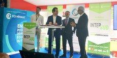 T. Bourio (Suez), A. Deljarry (CCI 34), D. Katzenmayer (Airbus), A. Di Crescenzo (CCI Occitanie)