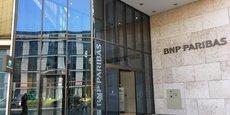 L'immeuble de BNP Paribas, Allée de l'Europe, à Francfort, est plus discret que les imposantes tours des champions bancaires nationaux, Deutsche Bank et Commerzbank, qui traversent une mauvaise passe.