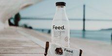 La startup Feed propose des barres de céréales et des préparations en poudre - auxquelles il faut ajouter de l'eau pour obtenir une boisson.