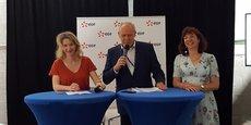 Le 7 juin 2018, Gilles Capy (délégué régional EDF Occitanie) lançait le EDF Innovation Day à Montpellier, aux côtés de Stéphanie Jannin (adjointe au maire de Montpellier et vice-présidente de la Métropole chargée de l'environnement) et de Marie-Thérèse Mercier (conseillère régionale Occitanie).