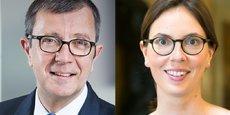 Olivier Millet, président de France Invest et d'Eurazeo PME, et la députée (LREM) Amélie de Montchalin.