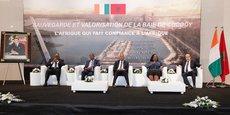 Une délégation ivoirienne de haut niveau a effectué une visite de travail au Maroc les 7 et 8 juin 2018. En marge de la visite, une conférence de presse a été organisée à Salé, le 8 juin 2018.