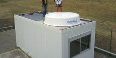 De six mètres carrés, la station Meolut Next est une technologie produite par Thales Alenia Space.