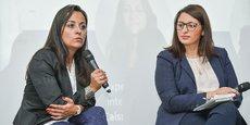 Estelle Moreira, experte affaires internationales à la Caisse d'épargne Aquitaine Poitou-Charentes, et Khadija Bouallaga, directrice Maroc du Groupe Salveo.