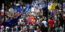 LONDRES: MANIFESTATION POUR UN RÉFÉRENDUM SUR LES CONDITIONS DU BREXIT