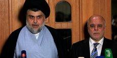 LE PREMIER MINISTRE IRAKIEN ABADI ET LE RELIGIEUX SADR S'ALLIENT