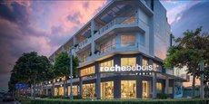 Le groupe Roche Bobois est né du rapprochement entre deux familles, les Roche et les Chouchan, les premiers distribuant du mobilier contemporain, et les seconds vendant leurs meubles dans un magasin baptisé Au Beau Bois. (Illustration : le magasin de Ho Chi Minh, le premier ouvert au Vietnam, en septembre 2017.)