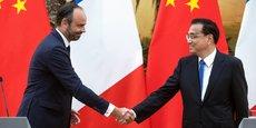 Edouard Philippe et son homologue chinois Li Keqiang.