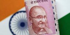 Un billet de banque indien.
