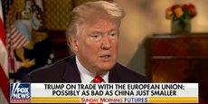 Sur Fox News, Donald Trump a reproché à l'Union européenne de mal traiter ses partenaires outre-Atlantique.
