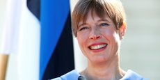 Kersti Kaljulaid, présidente de la e-République d'Estonie qu'elle ambitionne de transformer en startup nation (Photo : à Tallinn, le 31 mai 2018).