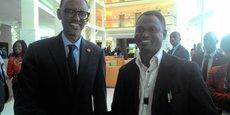 Le président de la République du Rwanda, Paul Kagamé, félicite l'initiative Télé-Irrigation pour sa contribution à la réalisation Smart Cities & Village en Afrique lors de Transform Africa Summit 2017.