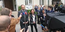 Le Premier ministre Edouard Philippe à la sortie d'un entretien de 45 minutes avec Johanna Rolland, maire de Nantes.