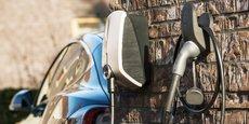 Une borne de recharge de véhicules électriques d'EVBox, le leader mondial du secteur filiale d'Engie, qui vient de racheter les girondins d'EVtronic.