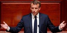 Emmanuel Macron lors de son allocution ce 9 juillet devant les parlementaires réunis en Congrès à Versailles.