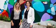 Audrey Oranger et Sandrine Larrouy-Castera, les deux cofondatrices de l'entreprise Com&Visit, installée sur le Campement de Darwin, à Bordeaux.