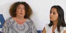 Alice Darjour et Estelle Moreira, respectivement experte filière santé et experte affaires internationales à la Caisse d'épargne Aquitaine Poitou-Charentes