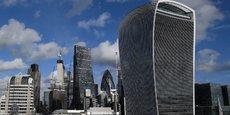 Le quartier de la City à Londres, où se concentre une partie des grandes institutions financières.