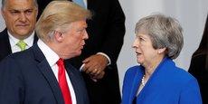 Trump a exprimé son désaccord avec Mme May sur sa version douce du Brexit. Et pour finir de mettre les pieds dans le plat, il n'a pas exclu de rencontrer l'un des deux Brexiters démissionnaires, son ami Boris Johnson, ce qui pourrait finir de mettre Theresa May dans l'embarras alors qu'elle tente de réaffirmer son autorité sur son parti conservateur très divisé.