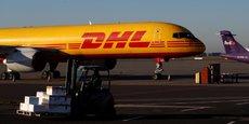 DHL, géant mondial du transport et de la logistique.