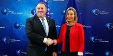 Rencontre à Bruxelles, le 12 juillet, entre le secrétaire d'Etat américain Mike Pompeo et Federica Mogherini, cheffe de la diplomatie européenne.