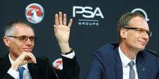 Carlos Tavares (Pdg de PSA à gauche) et Michael Lohscheller (Pdg d'Opel) sont parvenus à redresser Opel en un temps record... Il reste beaucoup à faire, nuance toutefois Carlos Tavares.